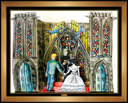 Red Grooms 3d Color Lithograph The Wedding Hand Signed Modern Artwork Sculpture