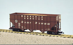 Usa Trains G Scale Woodchip Hopper Car R14088 Great Northern - Freight Car Brown