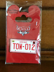 Disney Wdi Cars Land Mystery Collection Tow-012 License Plate Sign Pin Le 200