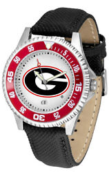 Georgia Bulldogs Men's Competitor Sports Leather Band Watch