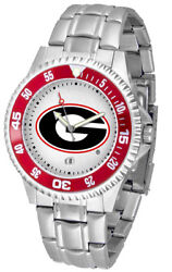 Georgia Bulldogs Men's Competitor Stainless Steel Watch