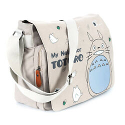 Anime Totoro Canvas Shoulder Messenger Bag Flap School Laptop Backpack Cosplay $28.54