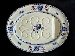 Minton Blue And White Butterfly Well And Tree Meat Platter Antique C.1868 England