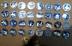 Large Collection 34 Coins Proof Statehood Quarters And Dollars Starting 1999