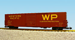 Usa Trains G Scale 60 Ft Single Door Box Car R19423a Western Pacific