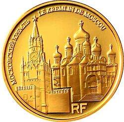 France 50 Euro 2009 , gold proof, Unesco , Kremlin Palace/ Moscow. Very rare !!!