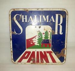 1930and039s Vintage Old Collectible Shalimar Paint Ad Porcelain Enamel Sign Board