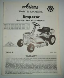 Ariens Emperor Riding Mower Tractor Parts Catalog Manual Original 3966/67/69/70