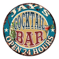 Cpco-0152 Jay's Cocktail Bar Tin Sign Valentine Father's Day Christmas Gift Idea