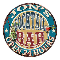 Cpco-0157 Jon's Cocktail Bar Tin Sign Valentine Father's Day Christmas Gift