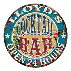 Cpco-0160 Lloyd's Cocktail Bar Tin Sign Valentine Father's Day Christmas Gift