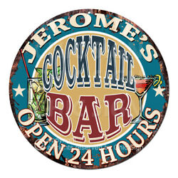 Cpco-0166 Jerome's Cocktail Bar Tin Sign Valentine Father's Day Christmas Gift