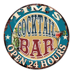 Cpco-0170 Tim's Cocktail Bar Tin Sign Valentine Father's Day Christmas Gift