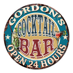 Cpco-0172 Gordon's Cocktail Bar Tin Sign Valentine Father's Day Christmas Gift