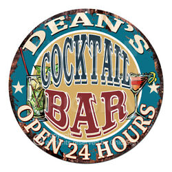 Cpco-0173 Dean's Cocktail Bar Tin Sign Valentine Father's Day Christmas Gift