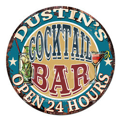 Cpco-0176 Dustin's Cocktail Bar Tin Sign Valentine Father's Day Christmas Gift