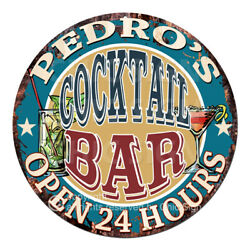 Cpco-0177 Pedro's Cocktail Bar Tin Sign Valentine Father's Day Christmas Gift
