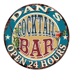 Cpco-0179 Dan's Cocktail Bar Tin Sign Valentine Father's Day Christmas Gift