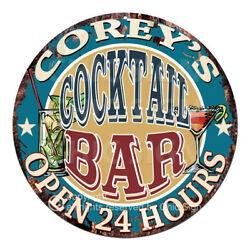 Cpco-0182 Corey's Cocktail Bar Tin Sign Valentine Father's Day Christmas Gift