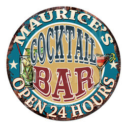 Cpco-0184 Maurice's Cocktail Bar Tin Sign Valentine Father's Day Christmas Gift