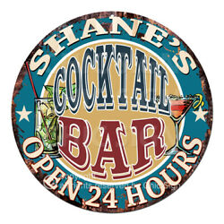 Cpco-0190 Shane's Cocktail Bar Tin Sign Valentine Father's Day Christmas Gift