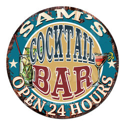 Cpco-0192 Sam's Cocktail Bar Tin Sign Valentine Father's Day Christmas Gift