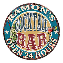 Cpco-0196 Ramon's Cocktail Bar Tin Sign Valentine Father's Day Christmas Gift