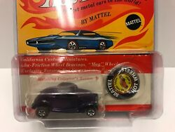 Hot Wheels Redline Purple 36 Ford Coupe Very Nice In Blister Pack