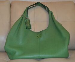 Coach Hobo Green Leather Purse large $97.00