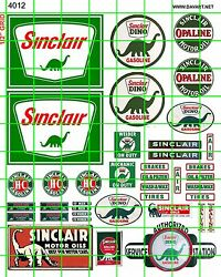 4012 Ho 187 Dave's Decals Vintage Sinclair Gas/oil Signs Advertising