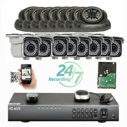 16ch Network 8mp Nvr Dome Bullet 2592x1920p Ip Poe Onvif Camera Security7ui98/