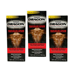 Pomada Dragon Warm Analgesic Cream. Muscular Pain And Ache Relief. 2 Oz. Pack Of 3