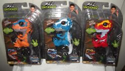 9904 Rare Wowwee Toys Noc Fingerlings 3 Untamed T-res Ironjaw, Ripsaw, Scratch