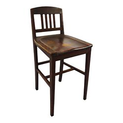 Antique Arts And Crafts Sikes Chair Company Counter Stool