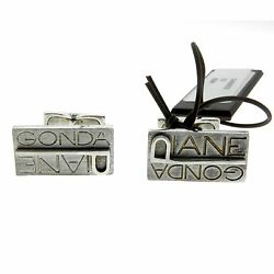 Pianegonda Sterling Silver Two Pairs Of Cufflinks Mixed Lot