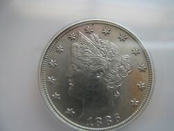 Liberty Head 5 Cents 1886 Beautiful Coin
