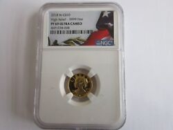 2018-w American Liberty 1/10 Ounce Gold High Relief Pf69 Ultra Cameo