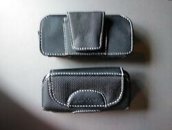 Lot Of 150 Pouch Black Leather Cell Phone Case With Belt Clip Very Nice Look