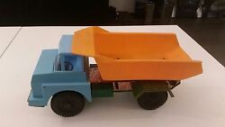 Soviet Ussr Toy Car Truck Plastic And Tin Rare Vintage Childrens Play Kids