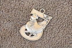 Pewter Decor Ornament Hen Chicken Days Of Christmas Seagull Canada Estate Wh