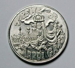 1979 Krewe Of Mardi Gras New Orleans Aluminum Doubloon Throw Medal With Genie