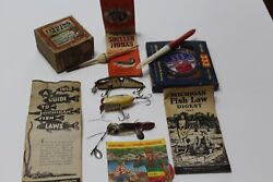 Lot Of Fishing Collectibles- 1950's And 1960's