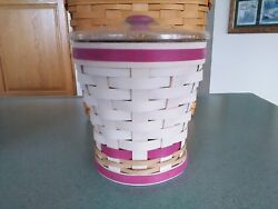 Longaberger 2017 Collector's Club Horizon Of Hope Pink Basket Set Complete New