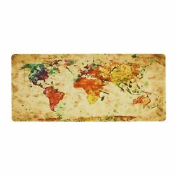 90*40CM Gaming Mouse Pad World Map Soft Rubber Desk Mat For Laptop Computer PC