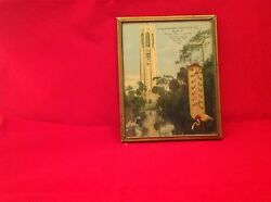 Vintage Antique Thermometer Working Condition Advertising Produce Thornton Iowa