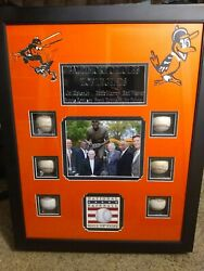 Orioles Hall Of Famers Autographed Baseball Display Case