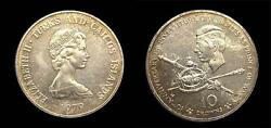 Turks And Caicos Isl. 1979 10 Crowns Rare Business Strike Unlisted In Matte Bu.