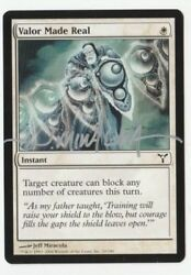 Valor Made Real - Artist Signed - Jeff Miracola - Near Mint - Mtg