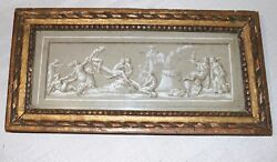 Antique Original 1700's Italian Design For Freeze Figural Wash Drawing Painting
