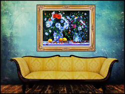 Georges Yoldjoglou Original Oil Painting On Canvas Signed Large Still Life Art